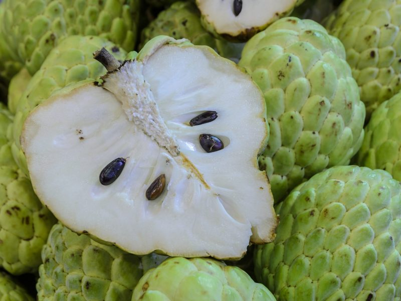 Heart-shaped of Custard apple or Sugar apple fruit